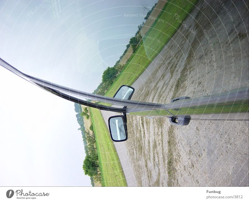 Car Car Window Mirror Motoring Section of image Partially visible Rear view mirror