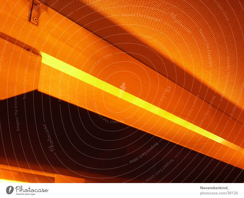 Light2 Diagonal Abstract Photographic technology Foyer Orange Architecture