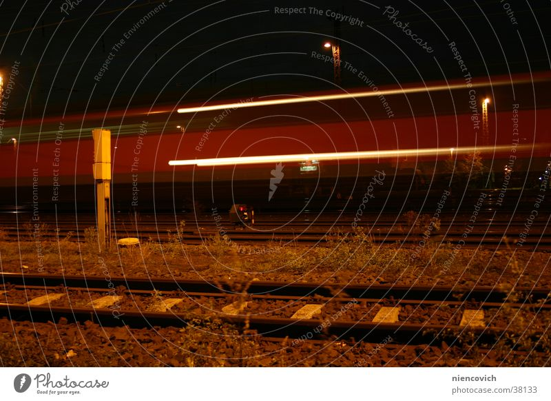 Vacation & Travel Transport Railroad Speed Railroad tracks Train station