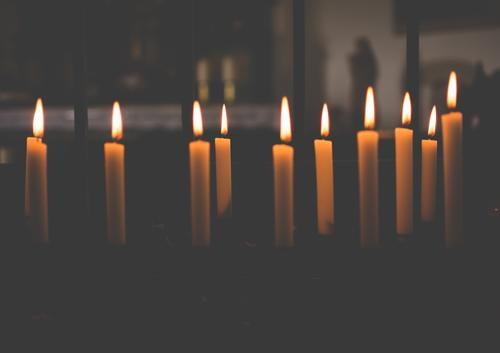 Burning candles in a small chapel give comfort, light and warmth Chapel Church Religion and faith Candle altar Belief Hope Light Prayer Gratitude pray