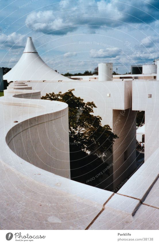 Blue Architecture Vantage point Roof Museum Pyramid Curved