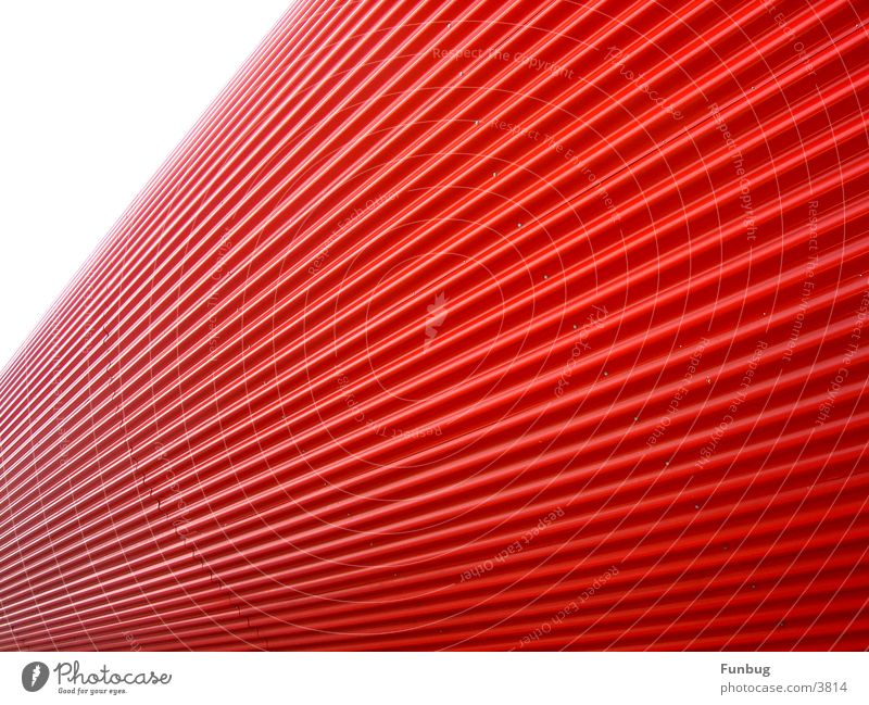 red tube #2 CeBIT Red UFO Waves Art Vanishing point Architecture Industry Email Disk London Underground Escape wave Metal Modern space