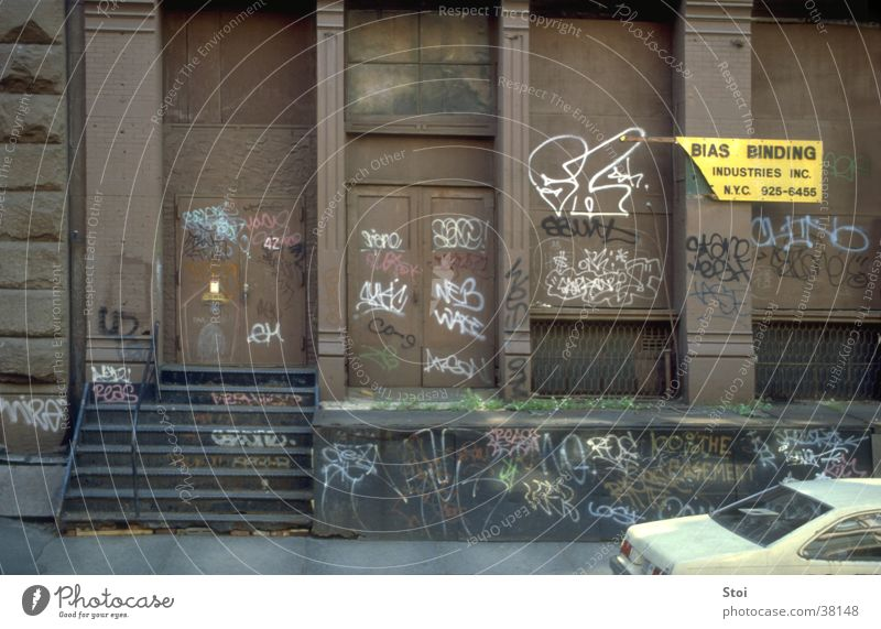 Street Wall (building) Architecture USA Sidewalk New York City Slum area Soho