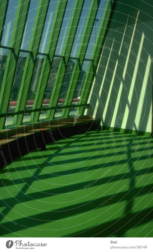 Shadow play Staatsgalerie Stuttgart State gallery Light Window Green Architecture Modern