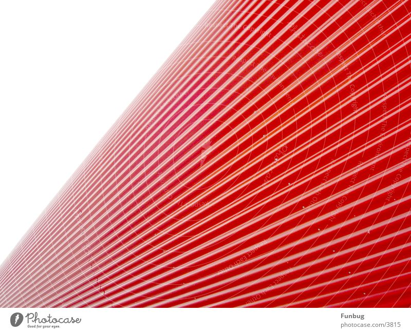 red tube #1 CeBIT Red UFO Waves Art Vanishing point Architecture Industry Email Disk London Underground Escape wave Metal Modern space