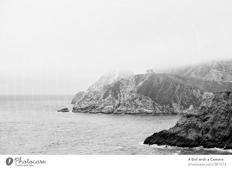 Highway 1 Environment Nature Landscape Elements Sky Clouds Bad weather Fog Rock Waves Coast Bay Exceptional Far-off places Tall Cliff