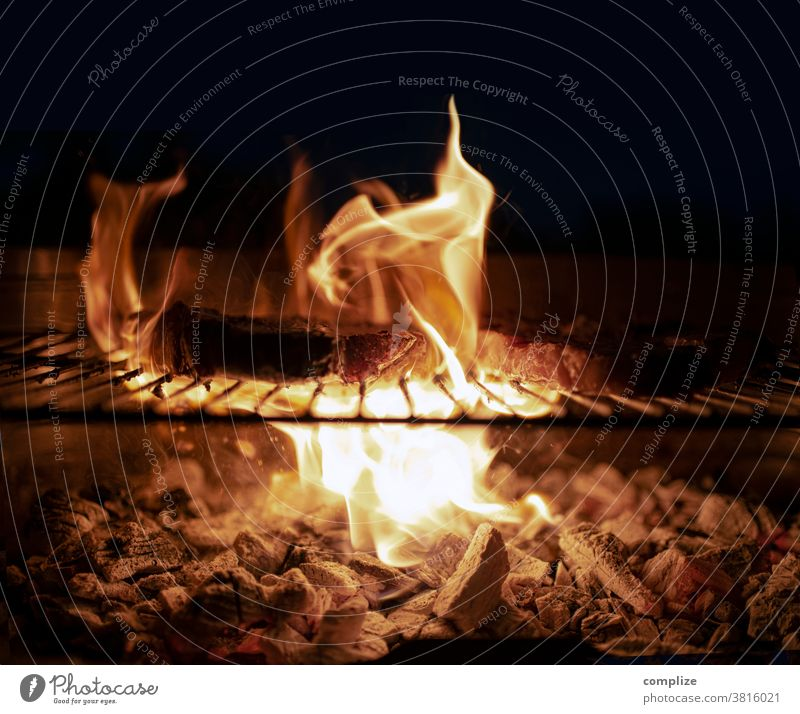 Grill & Meat Barbecue area grilled meat BBQ season Charcoal (cooking) Embers Fire Warmth Rust Barbecue (apparatus) Summer Nutrition Hot Detail
