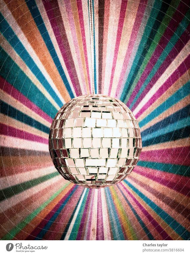 Mirror ball retro background 1970s celebration cheesy colorful dance decoration disco disco-ball discoball discotheque effect electronic entertainment equipment