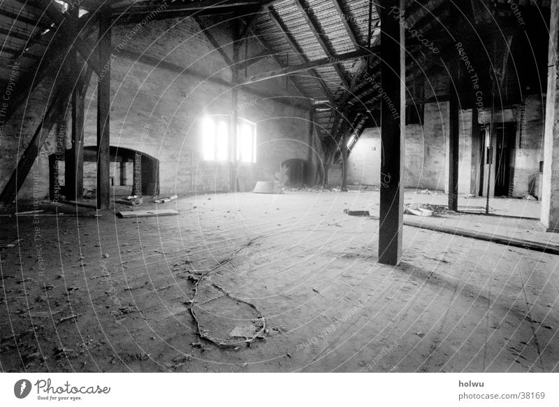 Leaving c Interior design Room Calm Loneliness Attic Wide angle Mystic Architecture Empty Sadness