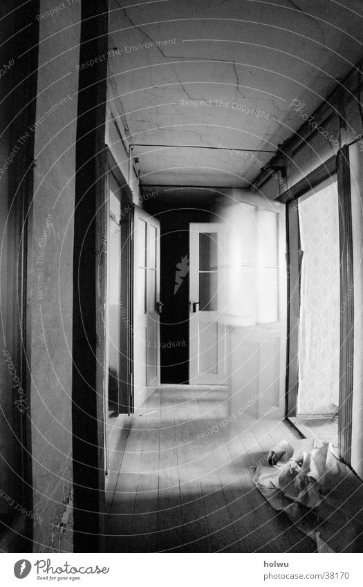 Leaving b Motion blur Interior design Room Calm Loneliness Architecture Door flying door Movement Empty Sadness