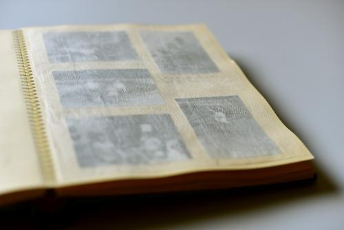 Faded memories. Old photos in a photo album. Photos Photo album pale Transience Past Infancy Memory Analog Nostalgia Photography Former family album