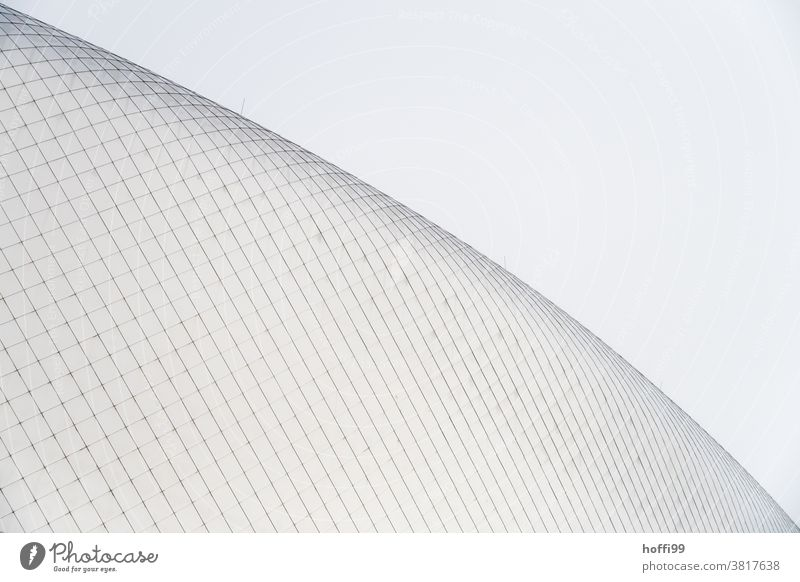 curved glass façade Glass Roof Roof construction Facade Curved Abstract Surrealism Wall (building) Modern Minimalistic minimalism Modern architecture Window