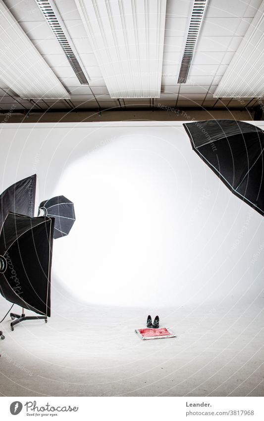 photo studio Photography Photographic studio clearer Paper bag shopping bag Shock Model Footwear Red Studio shot