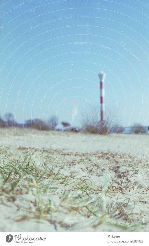 Elbe beach Elbstrand Lighthouse Bushes Grass Hamburg blurriness of the edges
