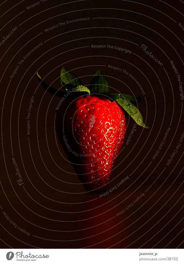 Healthy Fruit Exotic Strawberry Light and shadow