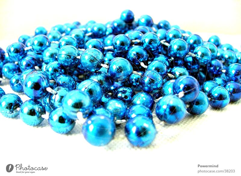 Blue Pearls Things blue chain chaos marbles