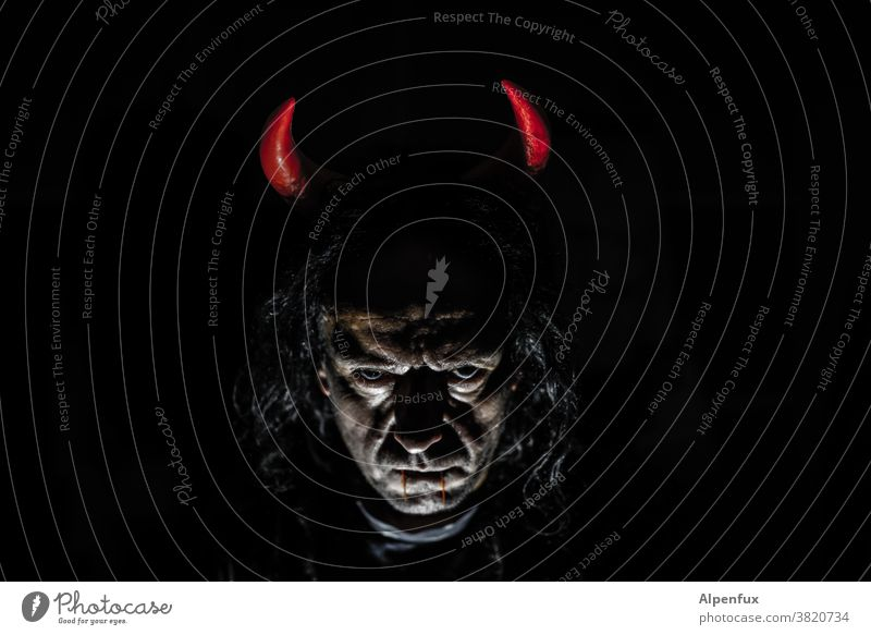 #666 | sweet or sour !!? Devil Hallowe'en Halloween, carnival frown Creepy Evil Fear Dark Carnival Autumn Human being Pumpkin Horror Death October Threat Black