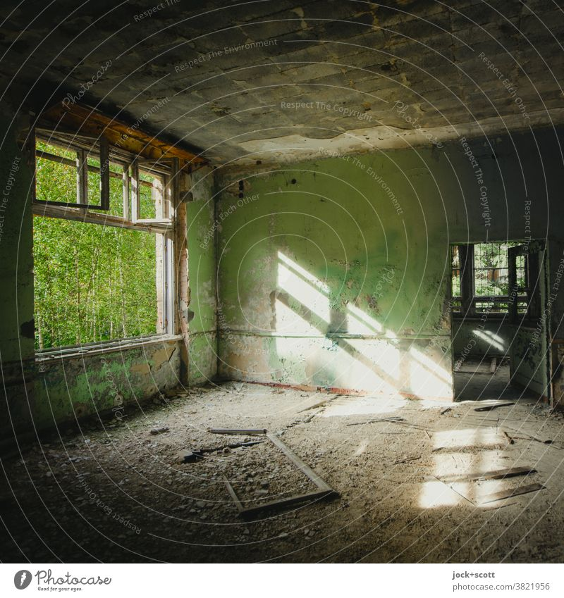 simply completely Lost! Ruin Ravages of time Derelict Sunlight Sanitarium Spatial impression lost places Transience Apocalyptic sentiment Architecture Room