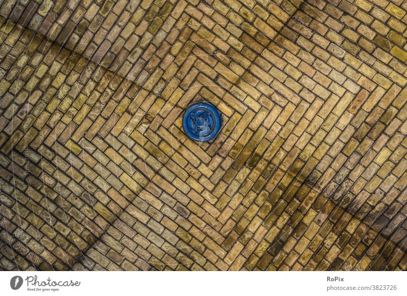 Vaulted ceiling of old bricks. Wall (barrier) Wall (building) rampart varnished Architecture House (Residential Structure) house wall Town urban Art glaze