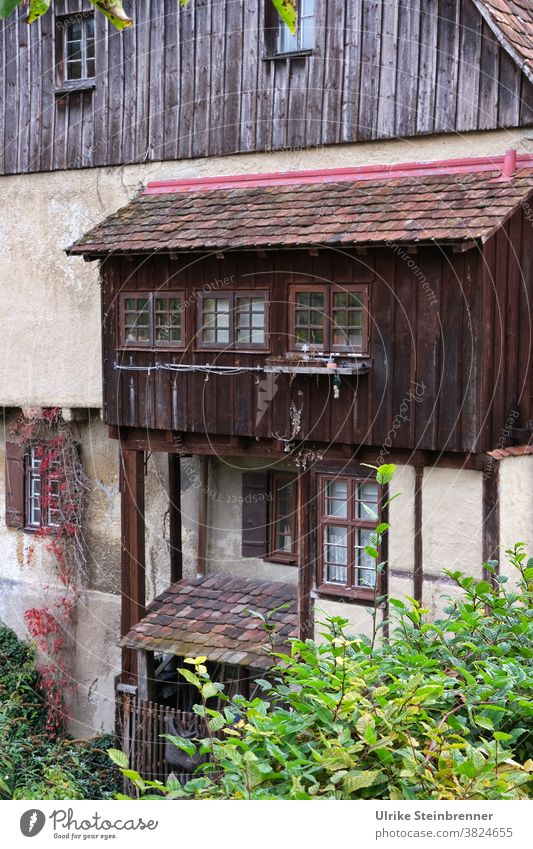 Medieval, renovated house with annex for the toilet House (Residential Structure) Building Medieval times extension stem Toilet LAVATORY Old building Historic