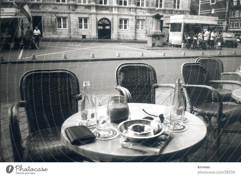 Water Street Europe Café Netherlands Black & white photo Old town Sidewalk café