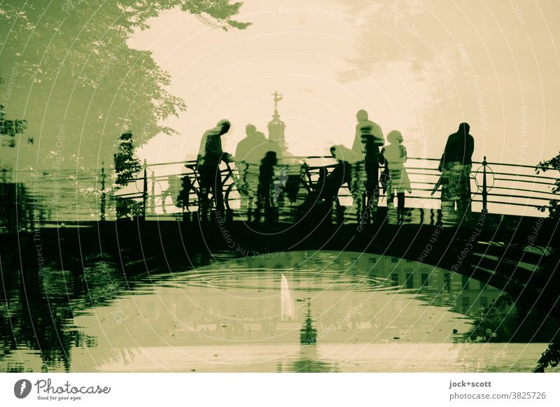 2500 visitors across the mirrored cast-iron bridge Tourist Attraction Charlottenburg Lock Lanes & trails Historic Reflection World heritage Silhouette Park