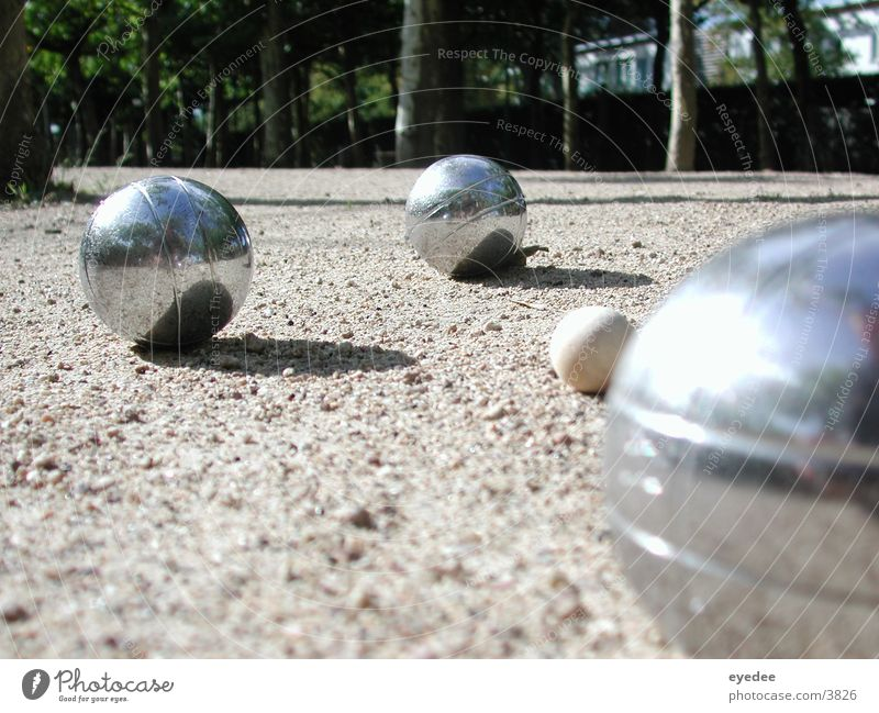 petanque Playing Boules Sun Sphere Exterior shot