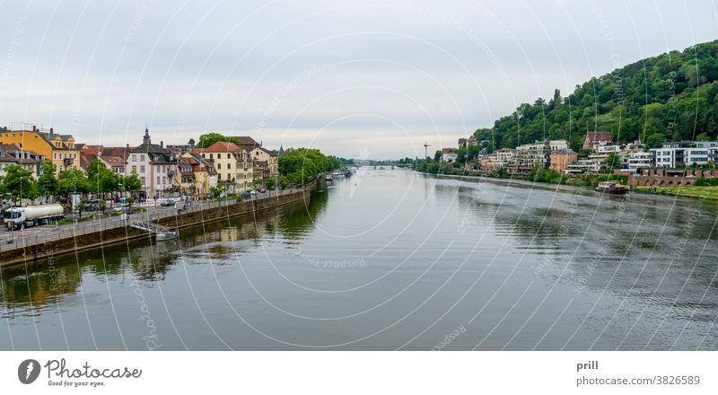Heidelberg city view heidelberg stadt universitätsstadt neckar fluss deutschland altstadt architektur haus gebäude strom wasserlauf landschaft außen historisch