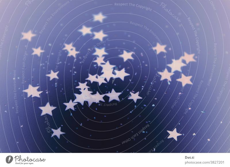 stars scattered luminescent background ornamental Many Blue