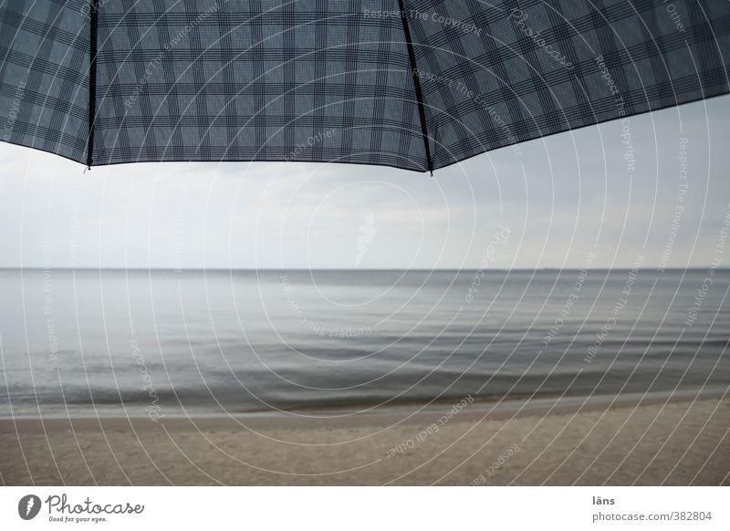 rainy day Baltic Sea Umbrella Sky Vacation & Travel Beach Sand