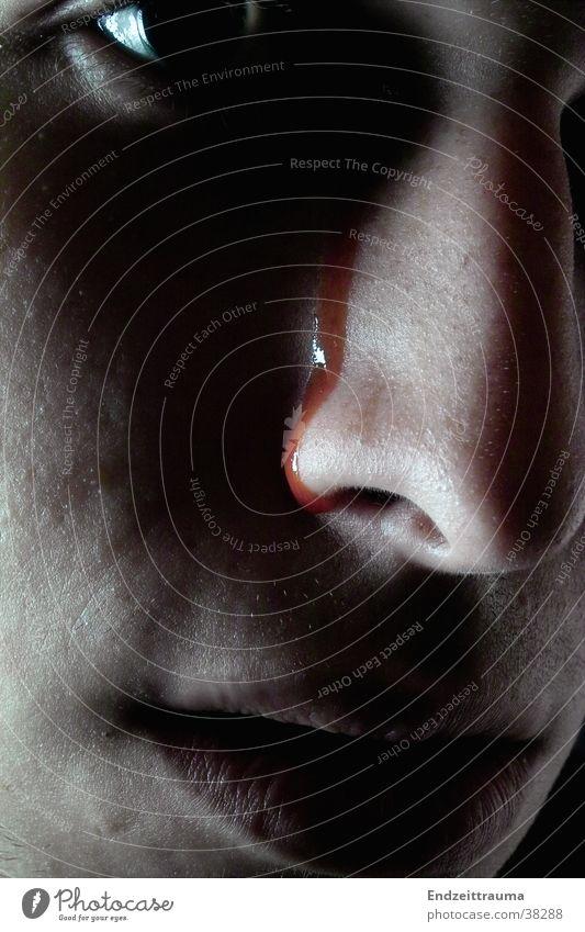 blood tear Dark Man Blood Nose Face