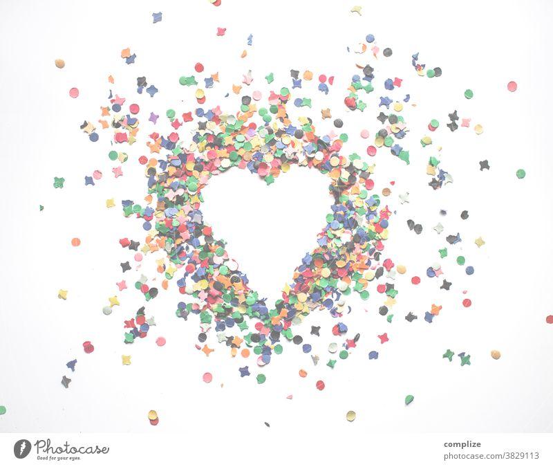 The carnival confetti heart fades Carnival Heart Confetti Corona virus Malfunction refusal 11.11 celebration Party pale showery with confetti heart-shaped Love