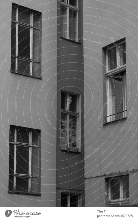Backyard Berlin Mitte Courtyard House (Residential Structure) Window Town Facade Downtown Deserted Old building Capital city Old town Day Exterior shot