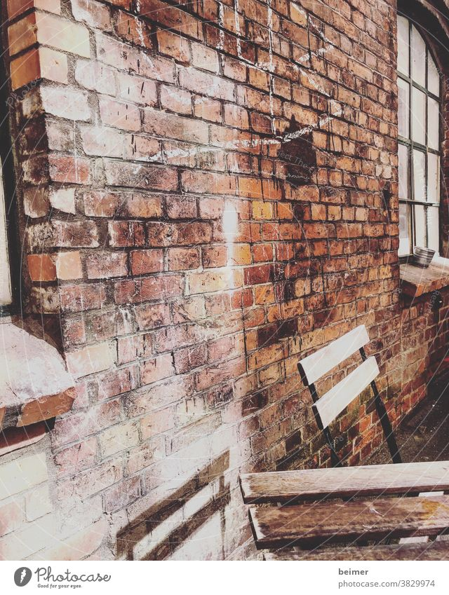 brick wall Wall (building) Wall (barrier) Stone Brick Facade Old Building Exterior shot Structures and shapes Interior courtyard Transience