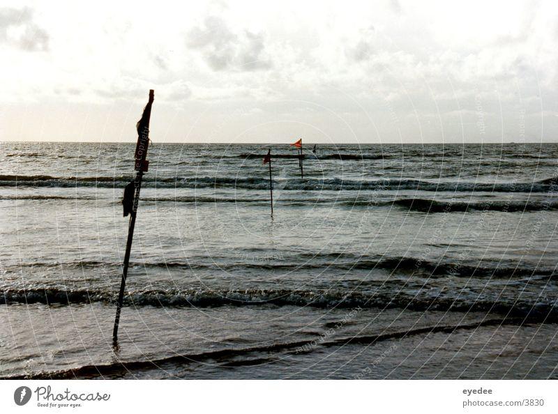 horizon Ocean Beach Waves Water Wind North Sea