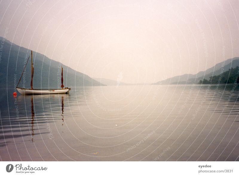 Highlands Lake Watercraft Scotland Mountain Rain