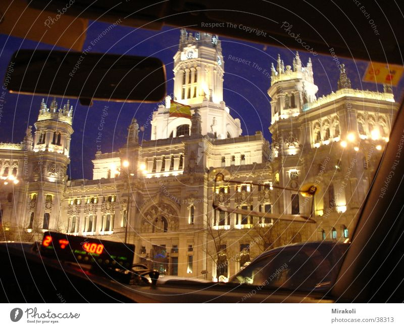 Building Historic Spain Mail Taxi Madrid