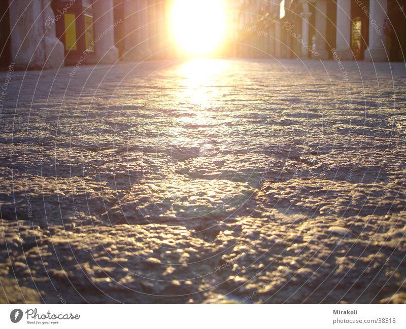 Way in Alcala Cobblestones Lanes & trails Street Sun sunset