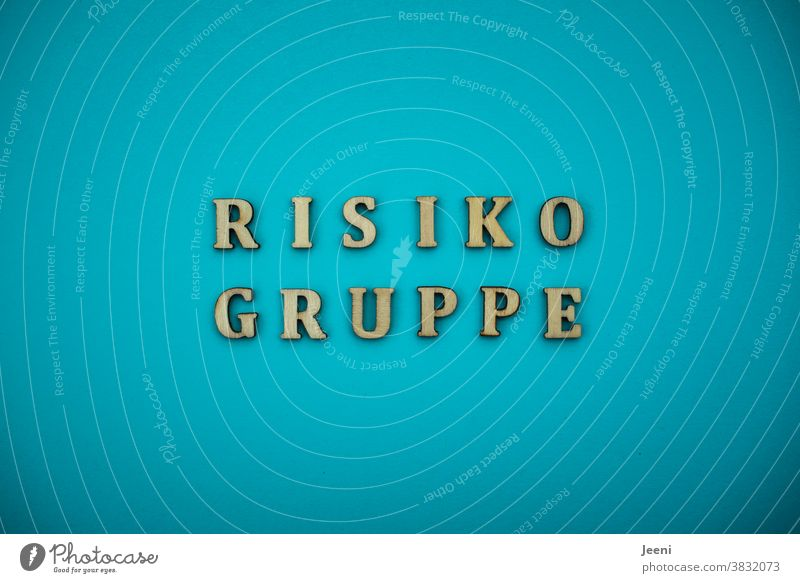 "Letters with the word ""risk group"" 