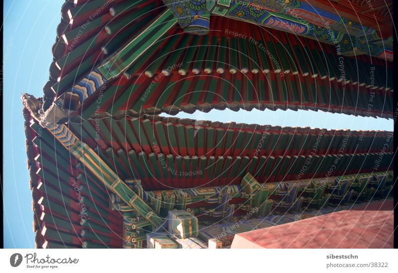 rooftops China Temple Pagoda Roof Beijing Buddhism Architecture Llama