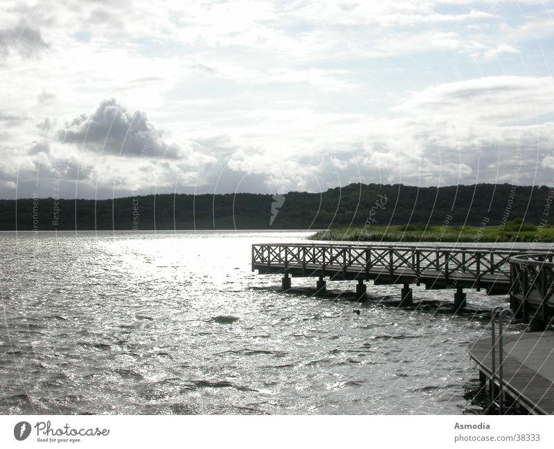 Water Sky Blue Clouds Freedom Landscape Moody Waves Wet Bridge Pure Clarity Friendliness Footbridge Positive