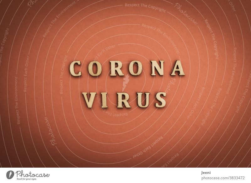 "Letters with the word ""CORONA VIRUS"" 