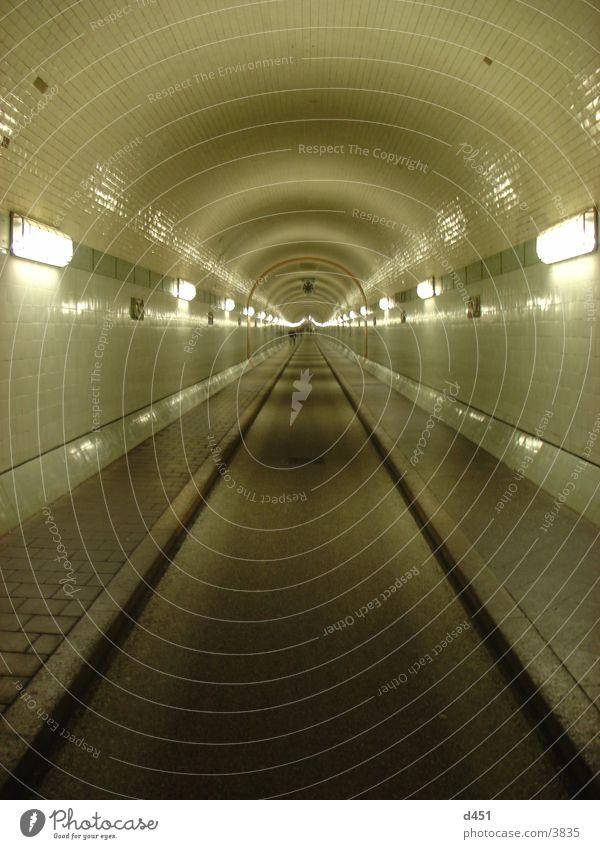 Hamburg Transport Tunnel Historic Neon light Elbe St Pauli-Elbtunnel