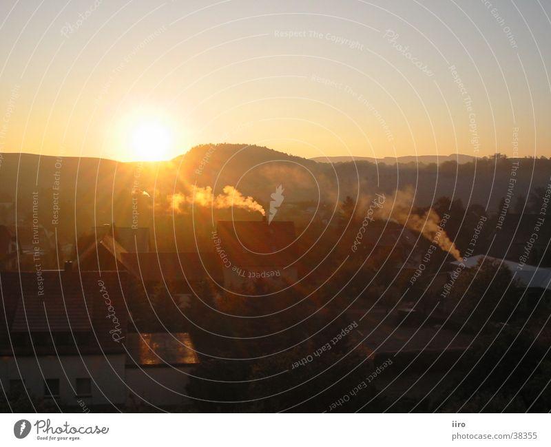 Sun Autumn Mountain Fog Large