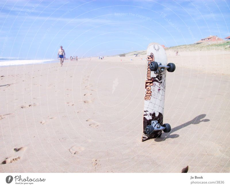 Sun Ocean Summer Beach Sports Sand Skateboarding France Atlantic Ocean