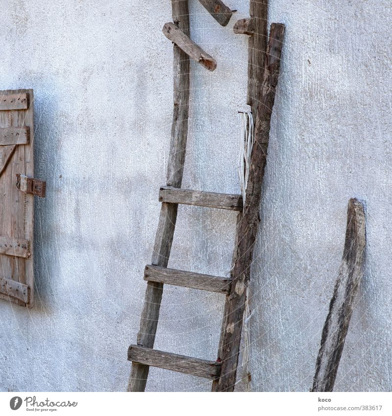 Old Black Window Wall (building) Senior citizen Wall (barrier) Gray Wood Line Brown Facade Stairs Authentic Broken Simple Transience