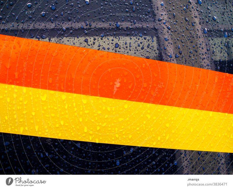 Racing stripes wet Stripe Metal raindrops Wet Vehicle car Orange Yellow Blue Style Design Background picture racing strip
