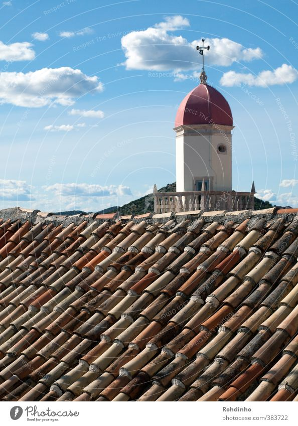Above the roof Architecture Sibenik Croatia Mediterranean sea Village Small Town Old town House (Residential Structure) Church Manmade structures Building Roof
