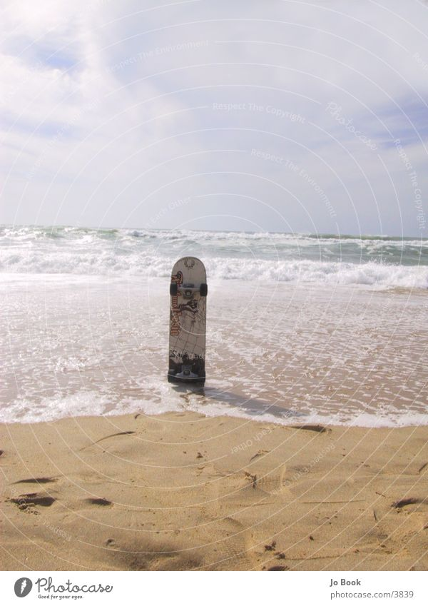 Ocean Beach Sand Waves Skateboarding France Coil Photographic technology