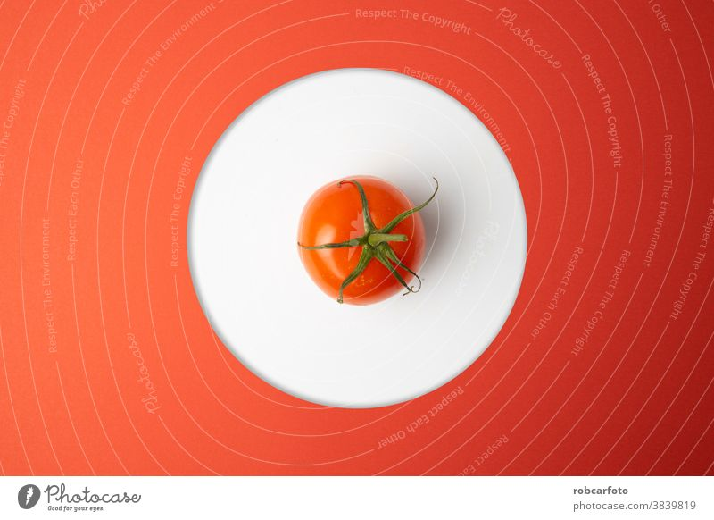 red tomatoes on red background fresh closeup macro vegetable plant single tomato isolated one ingredient organic ripe white path clipping white background food